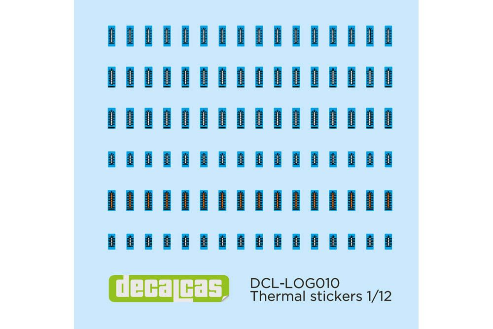 Decalcas DCL-LOG010 Decal 1/12 - Thermal stickers