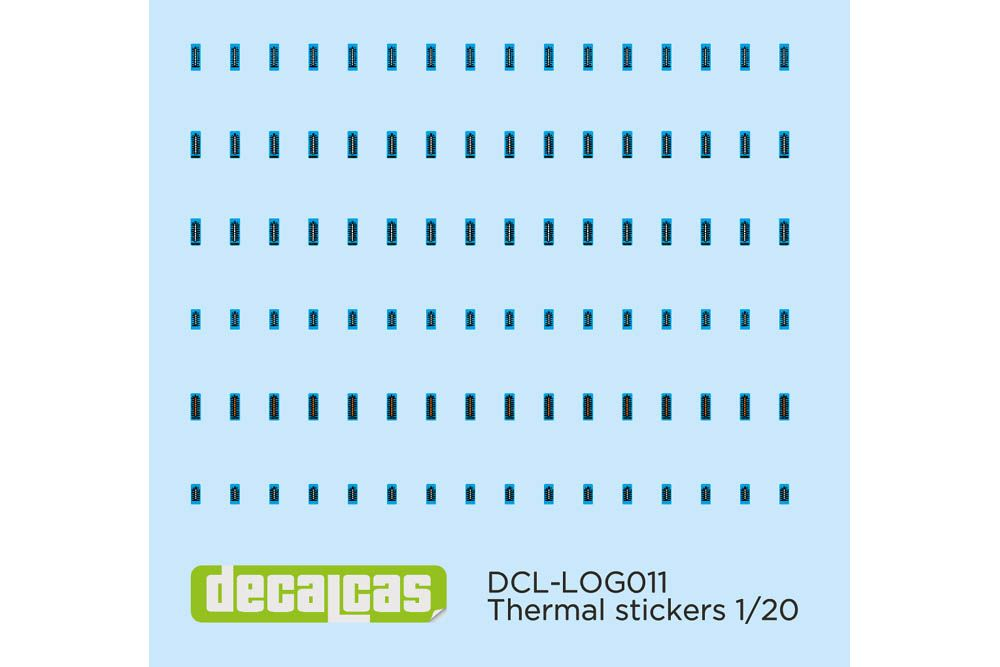 Decalcas LOG011 Decal 1/20 - Thermal stickers