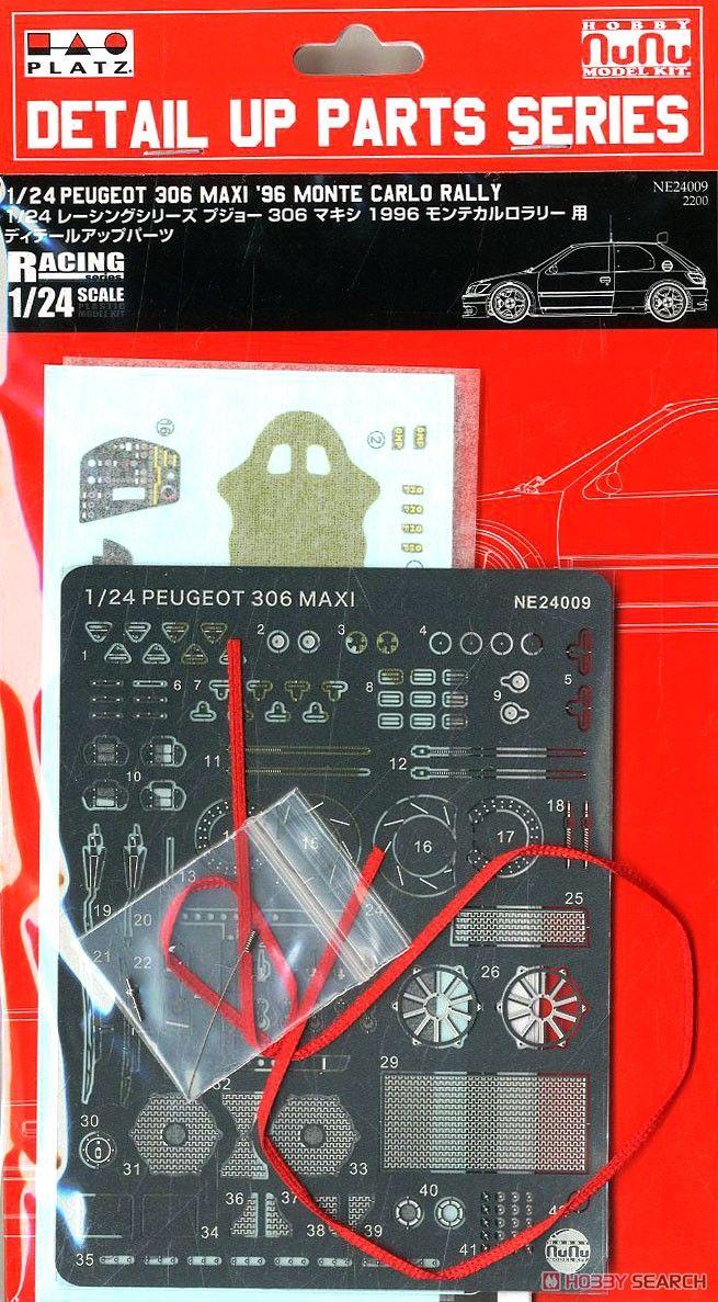 NuNu Model Kit NE24009 Peugeot 306 maxi 96 Monte Carlo Rally,Detail UP Parts