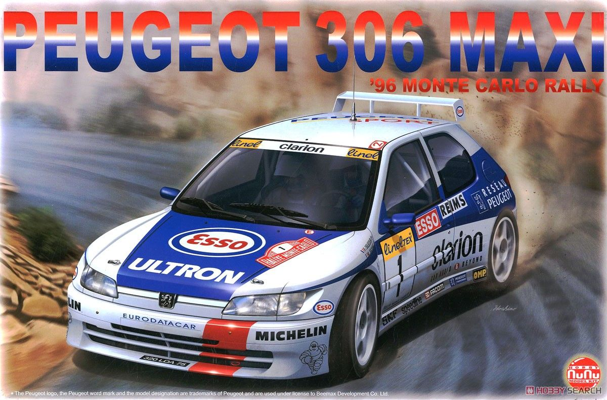 NuNu Model Kit PN24009 Peugeot 306 Maxi 1996 Rally Monte Carlo