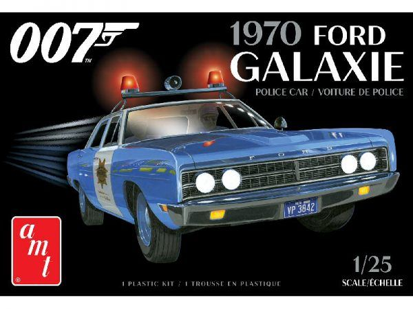 AMT 1172 1970 Ford Galaxie Police Car with James Bond 007 Diamands Are Forever