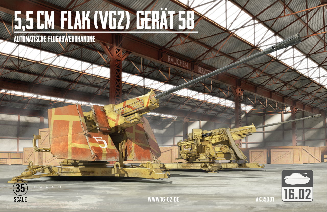 16.02 VK35001 5,5cm Flak (VG2) Gerät 58