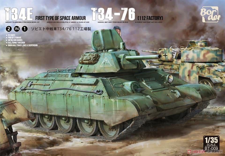 Border Model BT009 T34E & T34-76 112Factory (2in1)