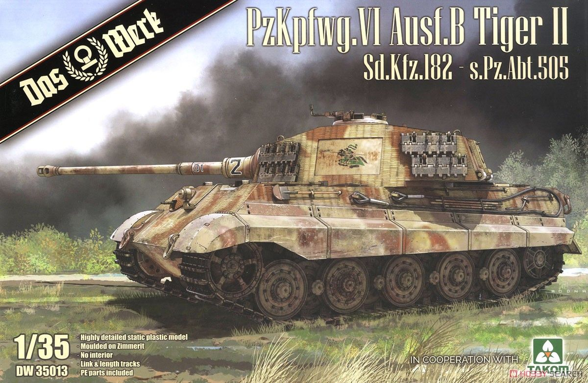 Das Werk DW35013 PzKpfwg. VI Ausf.B Tiger II Sd.Kfz.182 s.Pz.Abt.505