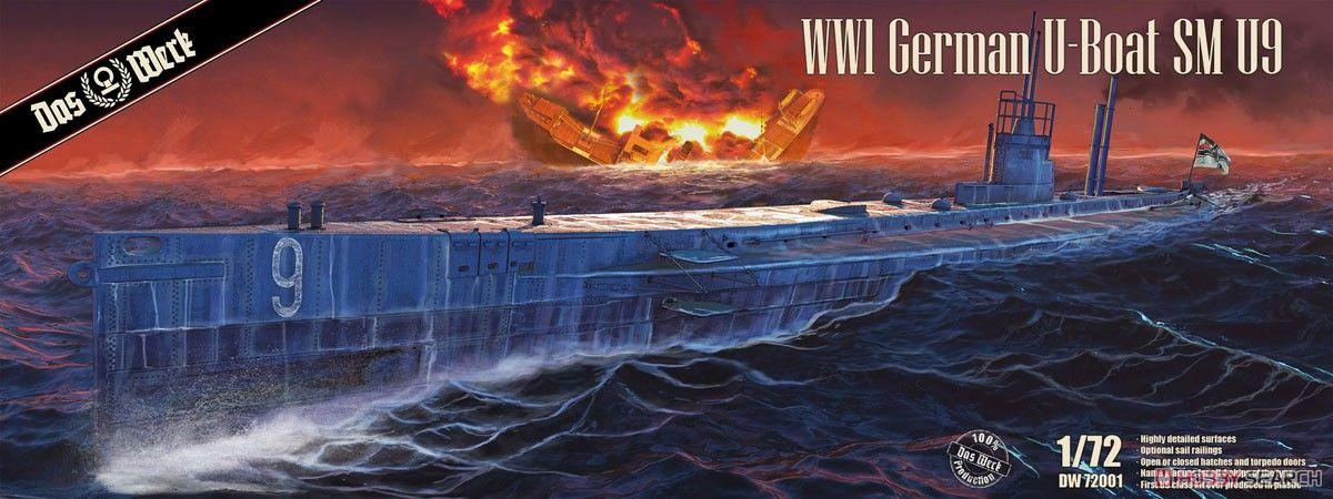 Das Werk DW72001 U-Boat SM U-9 German WWI Petroleum-Electric U-Boat
