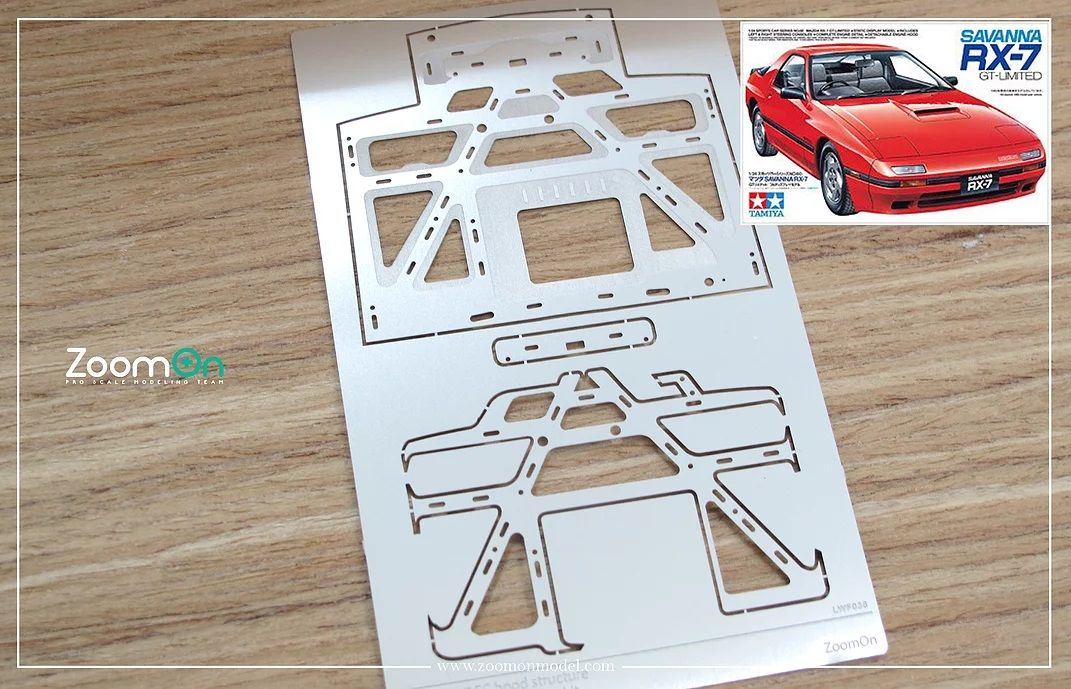 ZoomOn ZD081 Mazda RX-7 FC hood structure