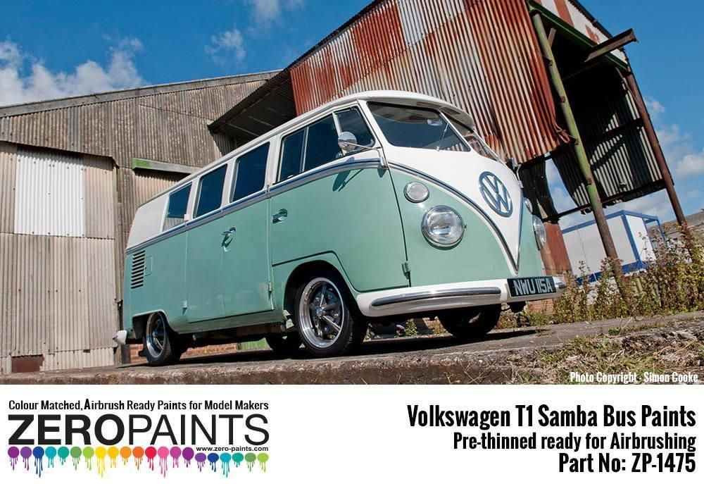 ZERO Paint ZP-1475 Volkswagen T1 Samba Bus Blue White L289 (top) - Turquoise L380 (bottom) 2x30ml
