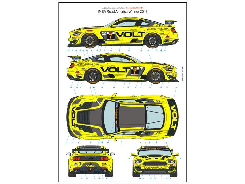 Blue Stuff 24-017 FORD Mustang GT4 VOLT Racing 2018