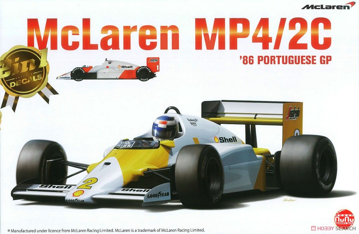 NuNu Model Kit PN20001 McLaren MP4/2C 1986 Portuguese GP
