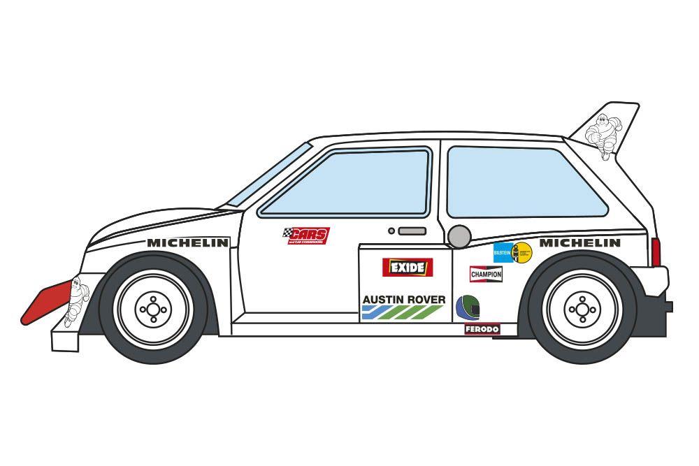 Decalcas DEC040 MG Metro 6r4 - Walles 1986 - Ayrton Senna - Test car