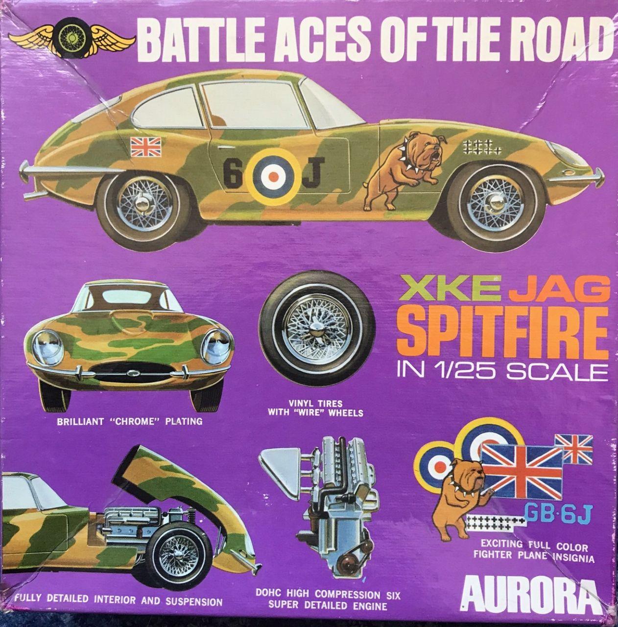 Aurora 577-250 Jaguar XKE JAG Spitfire