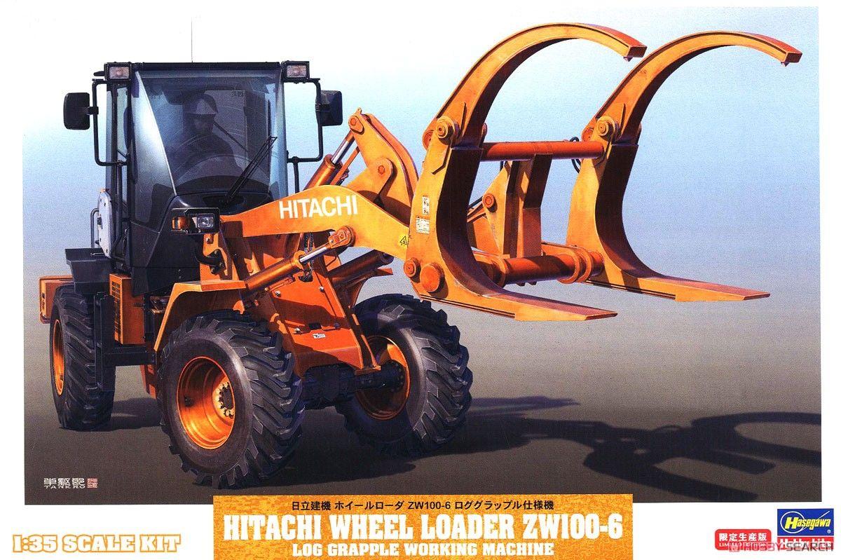 Hasegawa 66105 Hitachi Construction Machinery Wheel Loader ZW100-6 Log Grapple Type