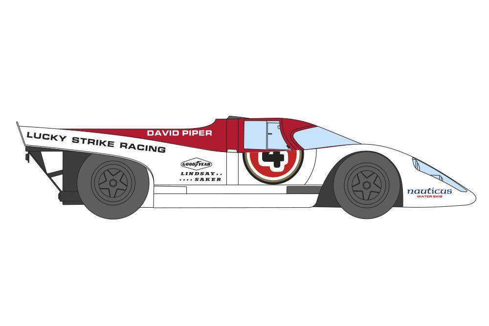 Decalcas DEC045 Porsche 917K - David Piper - 9 Hours Kyalami 1971 #4 -Tony Adamowicz + Mario Casoni