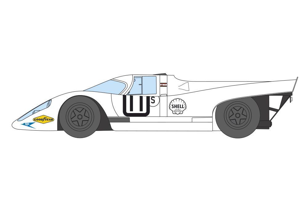 Decalcas DEC046 Porsche 917K - Porsche Salzburg - BOAC Brands Hatch 1000 Kms 1970 #11 - Vic Elford + Denny Hulme