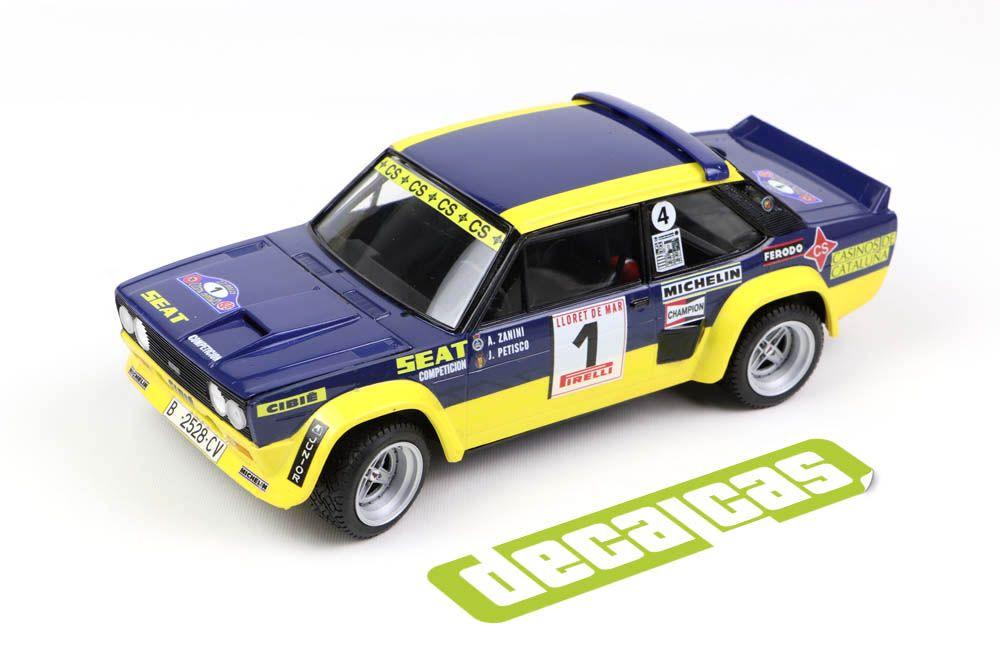 Decalcas DEC051 Fiat 131 Abarth - Seat Competicion - 27 Rally Costa Brava 1979 # 1 - Antonio Zanini + Juan José Petisco