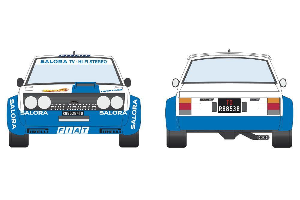 Decalcas DEC052 Fiat 131 Abarth - Fiat Rally / ASA - 30. Jyväskylän Suurajot - Rally of the 1000 Lakes 1980 #1 - Markku Alén - Ilkka Kivimäki