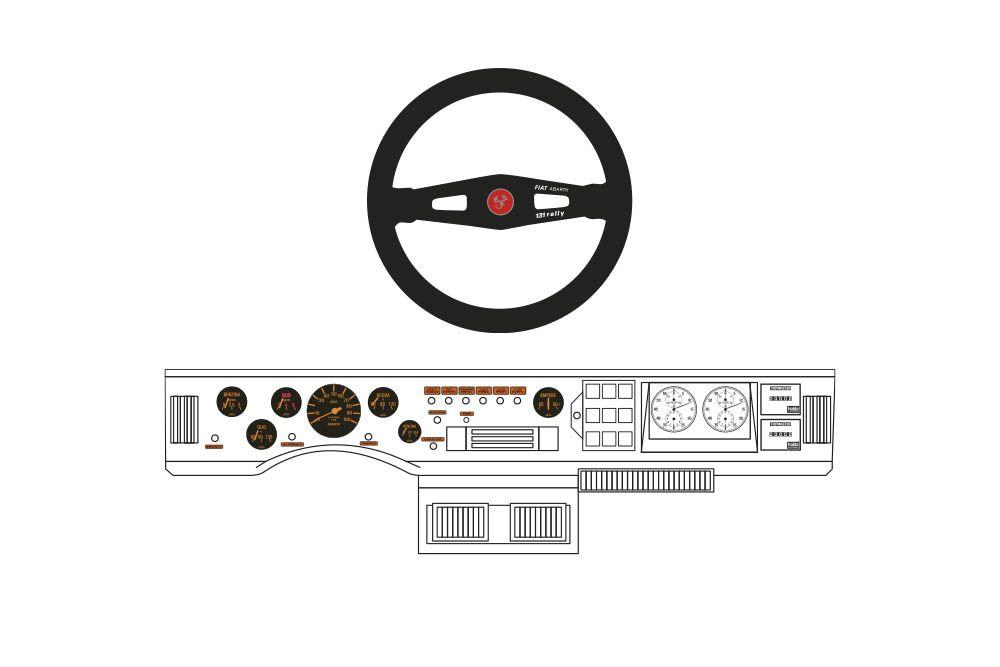 Decalcas DEC053 Fiat 131 Abarth - Fiat 131 Dashboard