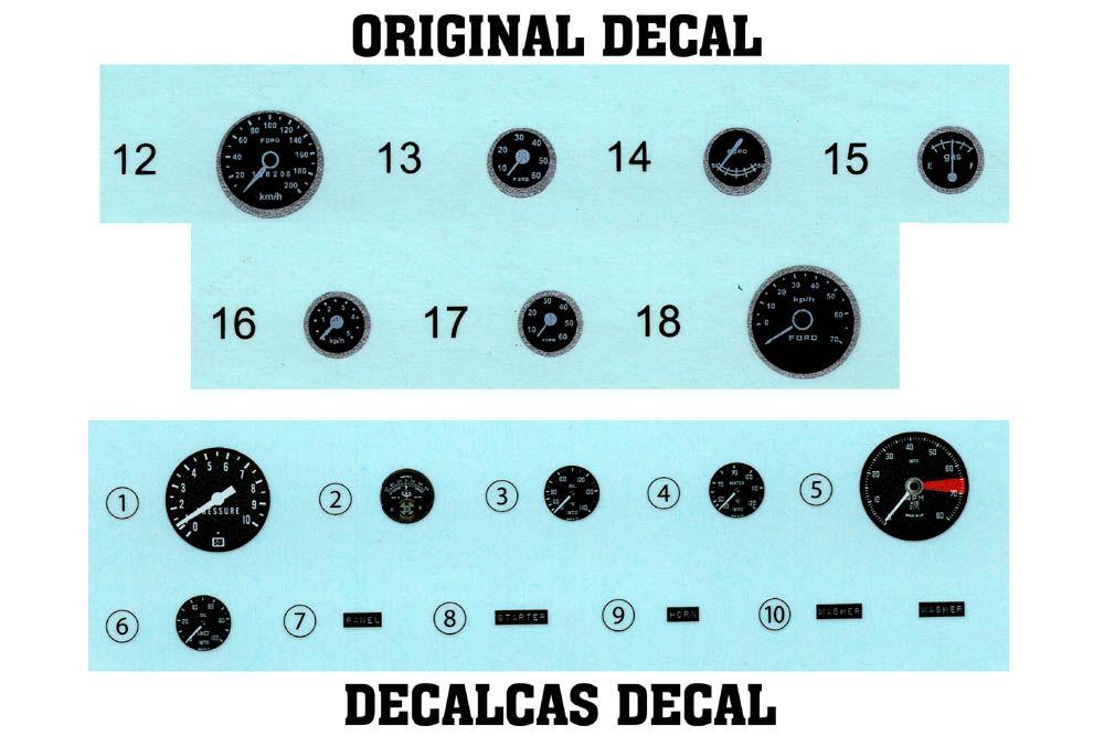 Decalcas DEC057 Ford GT40 Mk II Dashboard