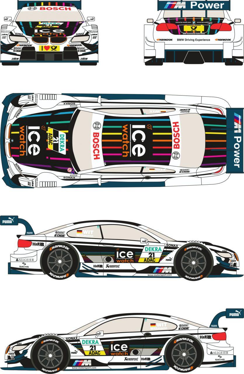"Racing Decals 43 RDT24/002 BMW M3 DTM #21 ""ICE WATCH"" 2013 (M.Witmann)"