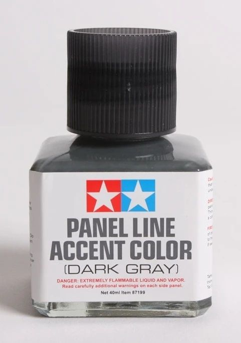 Tamiya 87199 Panel Line Accent Color Dark Gray (40ml)