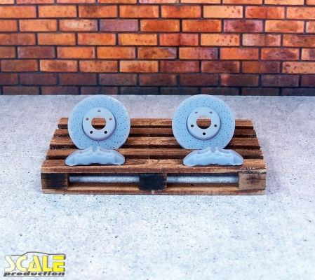 Scale Production SP24300 2 brake discs + 2 calipers