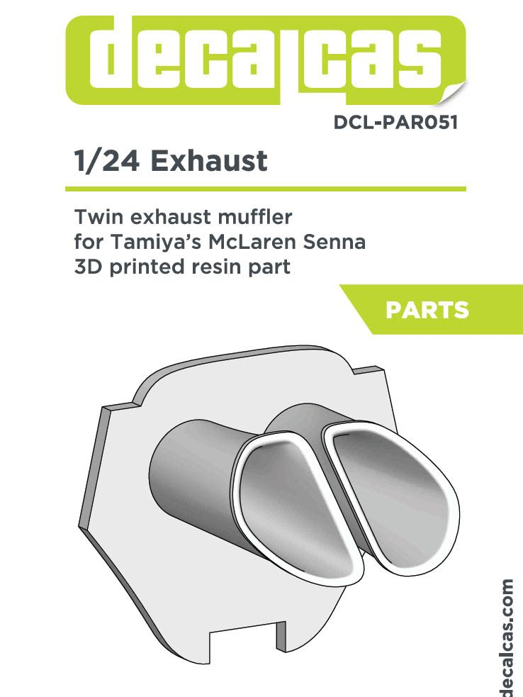 Decalcas DCL-PAR051 McLaren Senna Twin exhaust