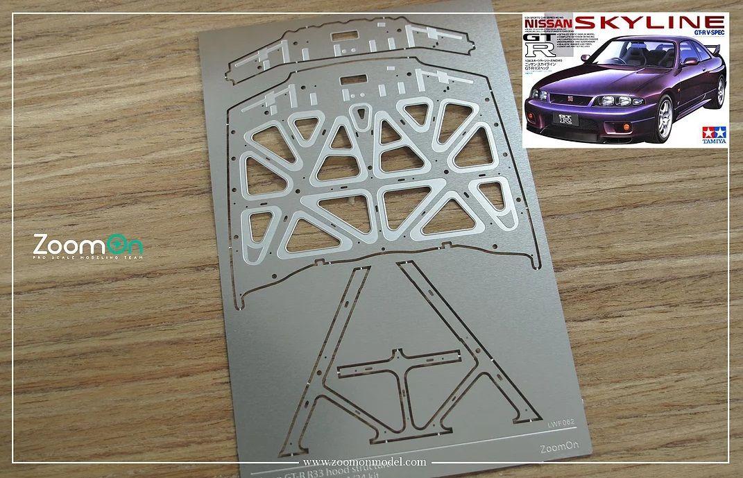 ZoomOn ZD137 Nissan GT-R R33 hood structure