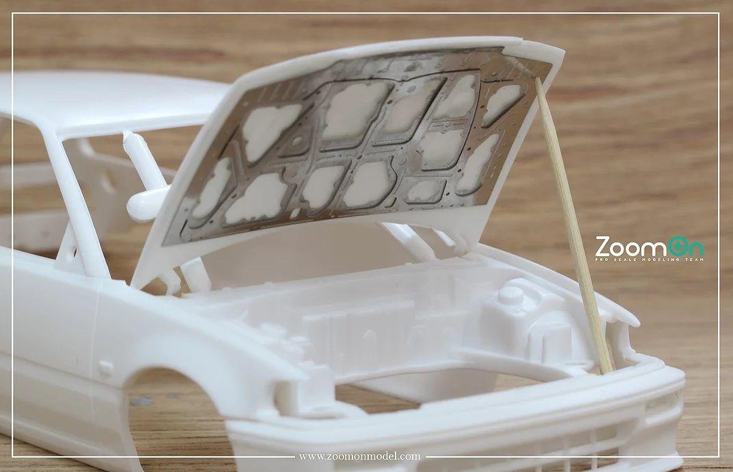 ZoomOn ZD124 Honda Civic EF3 hood structure