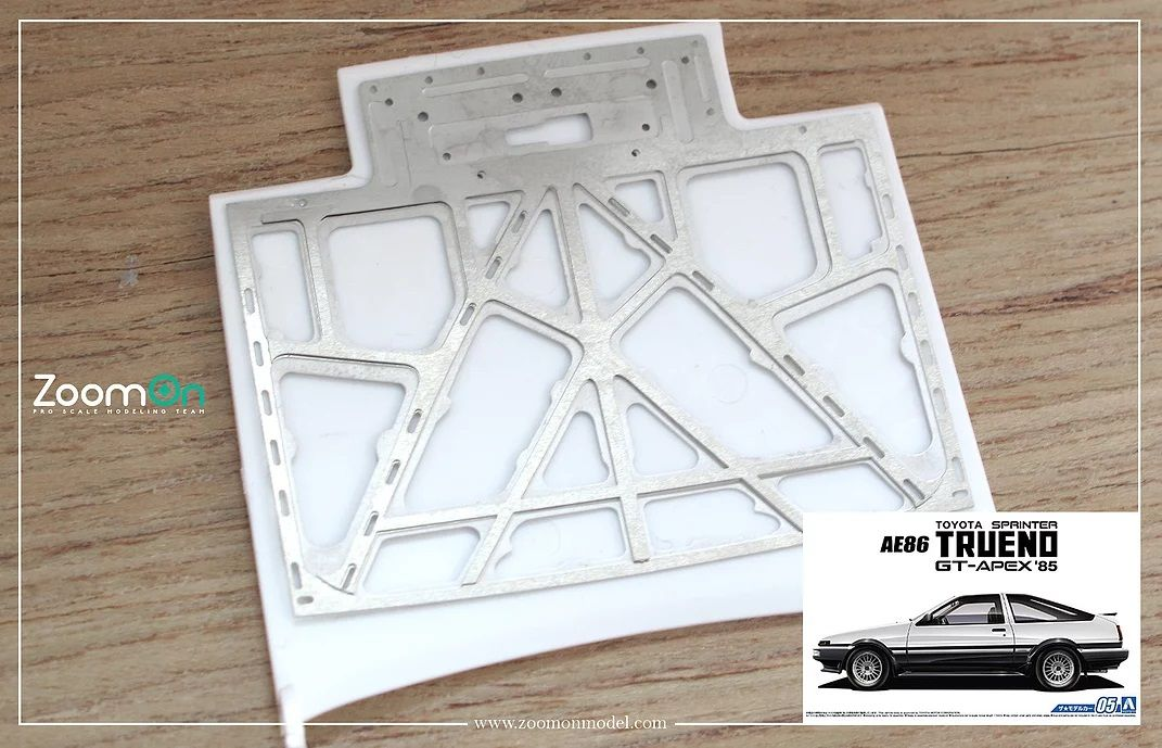 ZoomOn ZD122 Toyota AE86 hood structure
