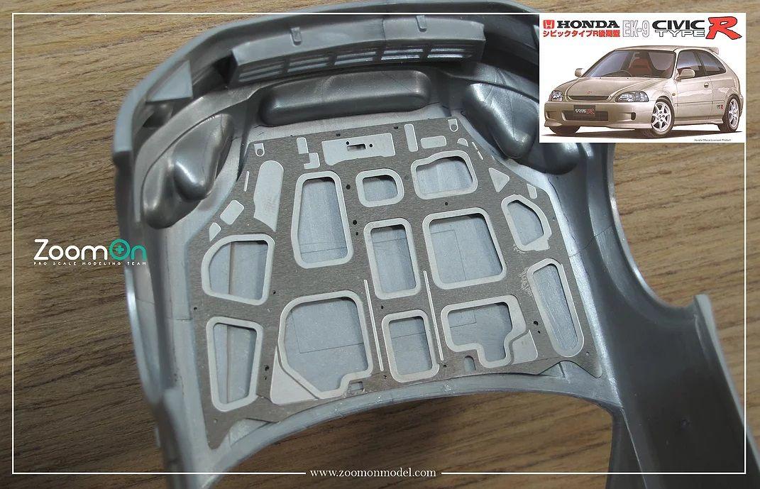 ZoomOn ZD138 Honda Civic Type R EK9 hood structure