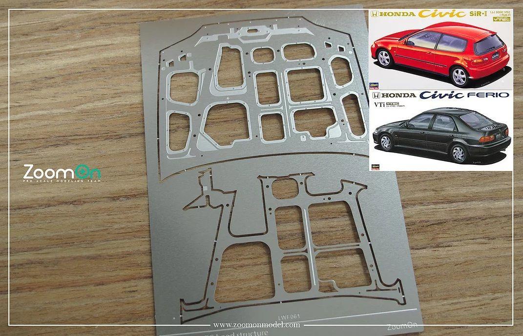 ZoomOn ZD139 Honda Civic EG hood structure