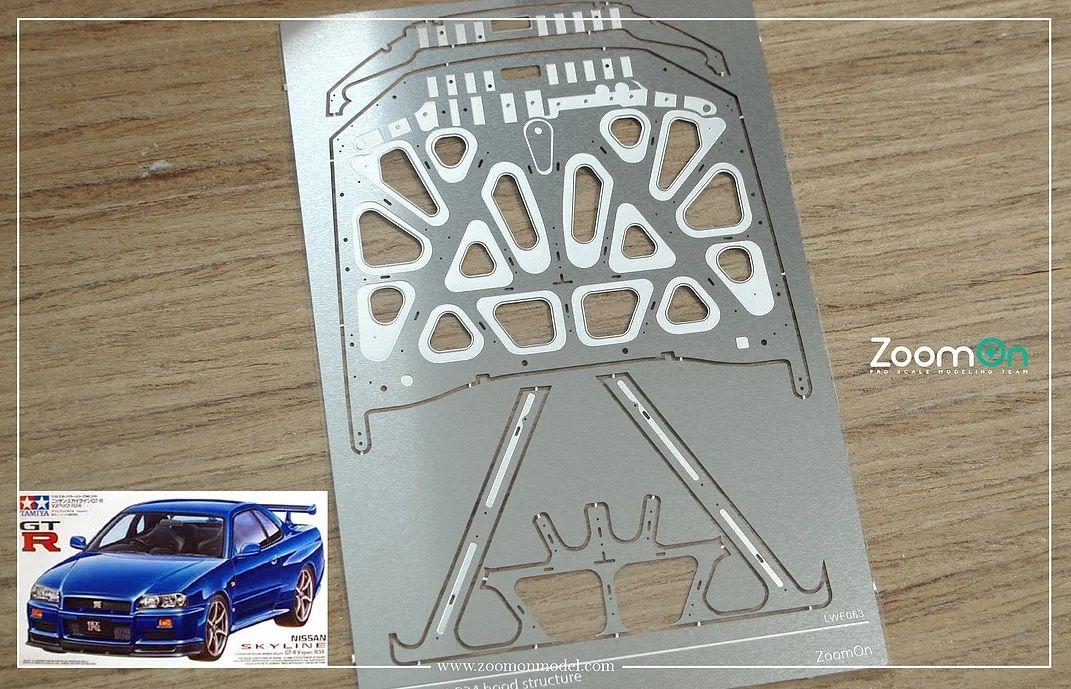ZoomOn ZD135 Nissan GT-R R34 hood structure