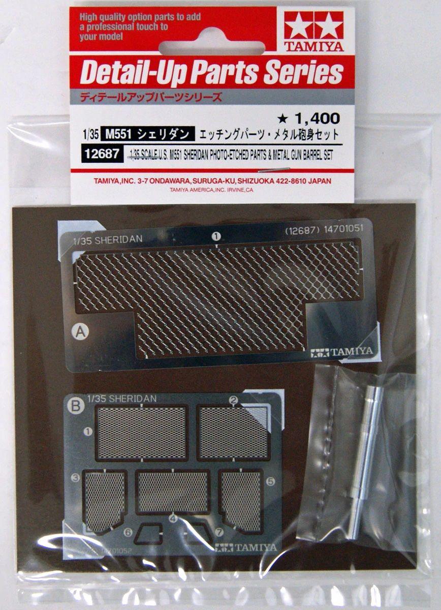 Tamiya 12687 M551 Sheridan Photo-etched Parts & Metal Gun Barrel Set