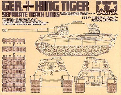 Tamiya 35165 Separate Track Links for Tamiya German King Tiger