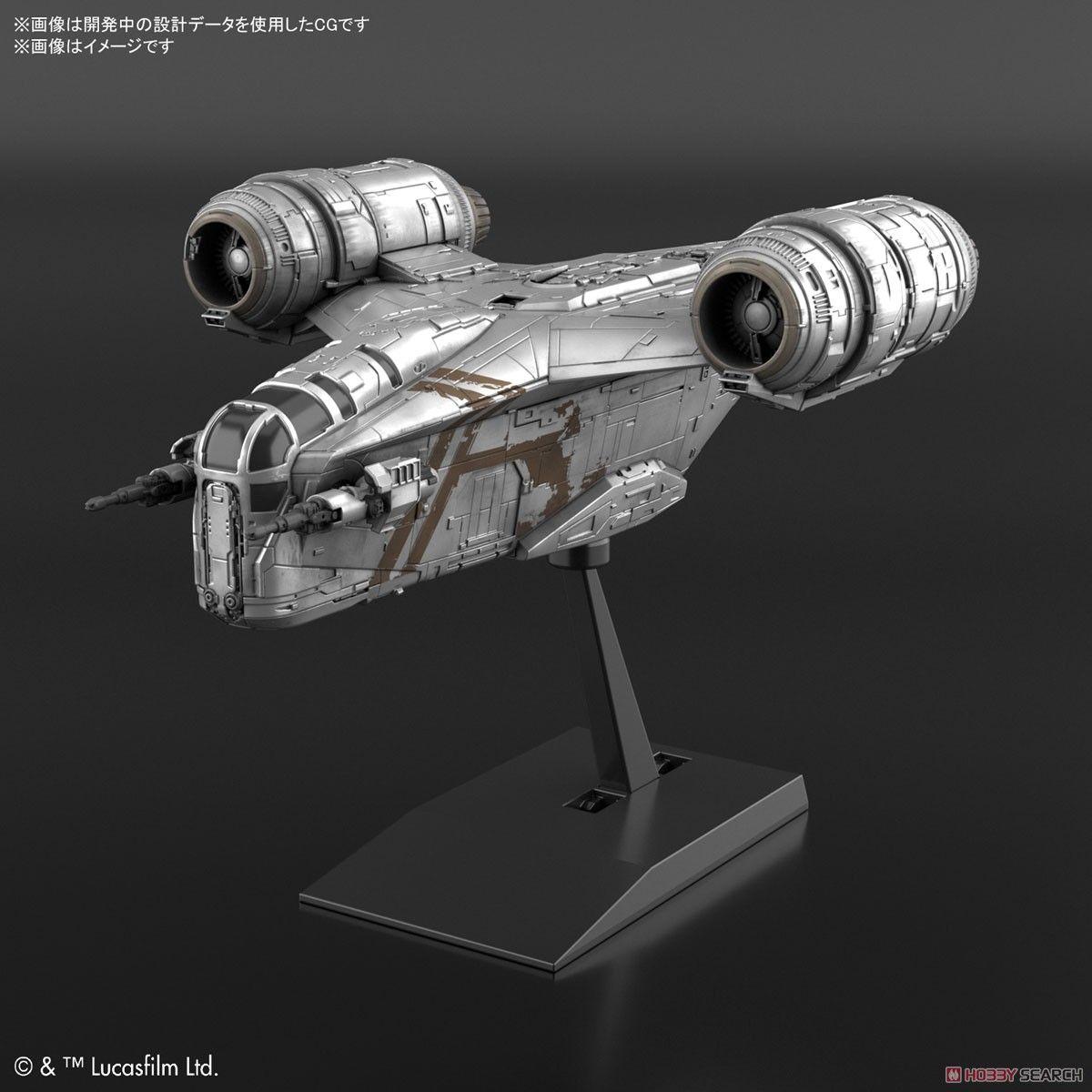 Bandai 5061795 Vehicle Model EX018 Razor Crest Silver Coating Ver.
