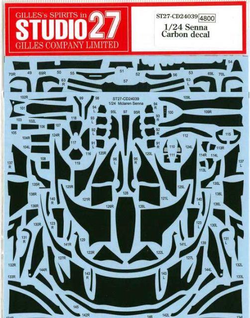 Studio 27 CD24039 McLaren Senna Carbon decal (For TAM)