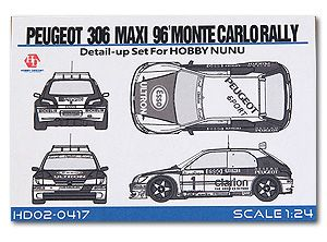 Hobby Design HD02-0417 Peugeot 306 Maxi 96' Monte Carlo Rally Detail-UP Set For Hobby NUNU