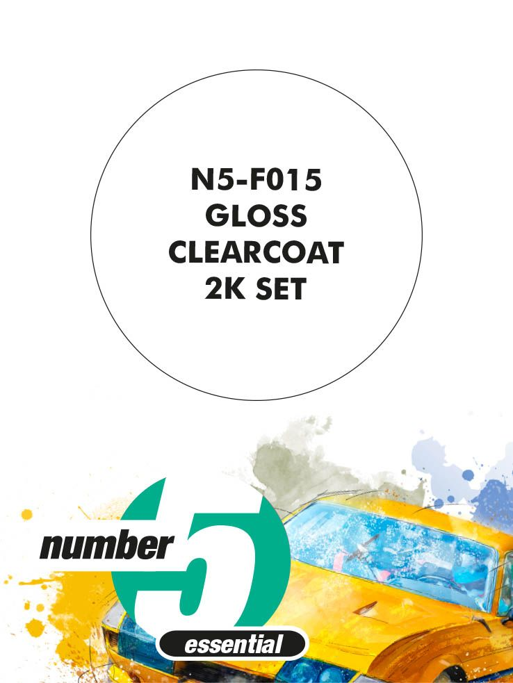 Number 5 N5-F015 Gloss clearcoat 2K lacquer set