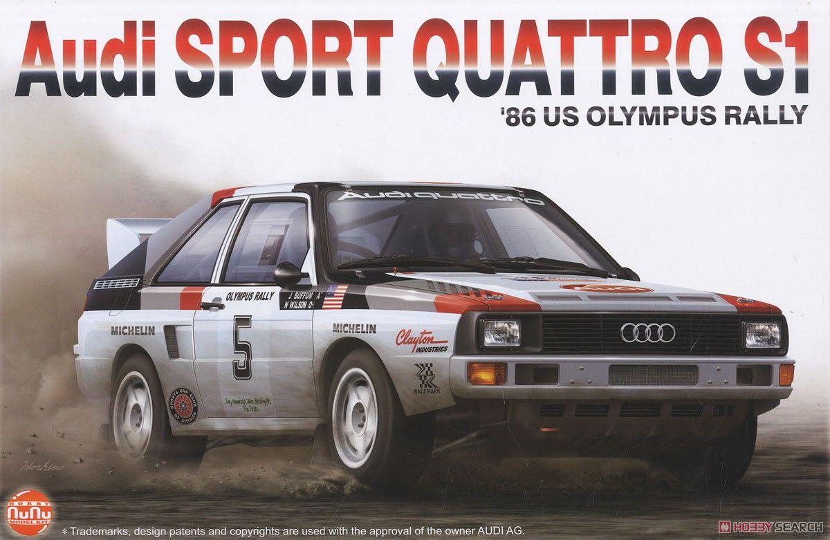 NuNu Model Kit PN24023 Audi Sport Quattro S1 1986 US Olympus Rally