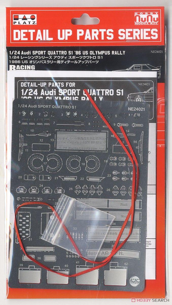 NuNu Model Kit PNE24021 Audi Sport Quattro S1 1986 US Olympus Rally Detail Up Parts