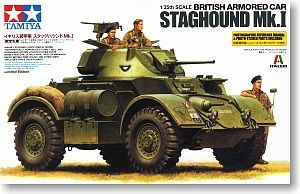 Tamiya 89770 British Armored Car Staghound Mk I