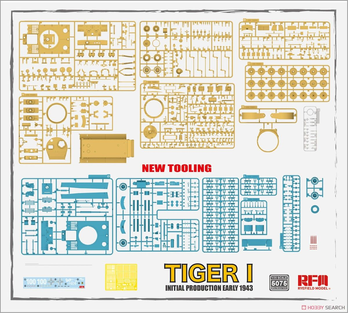 Rye Field Model 5075 Tiger I 100# Initial Production Early 1943