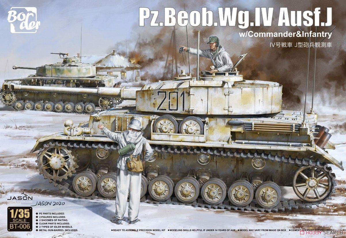 Border Model BT006 Pz.Beob.Wg.IV.Ausf J with Commander & Infantry