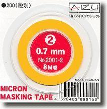 AIZU AIZU07 Micron Masking Tape 0.7mm x 8m
