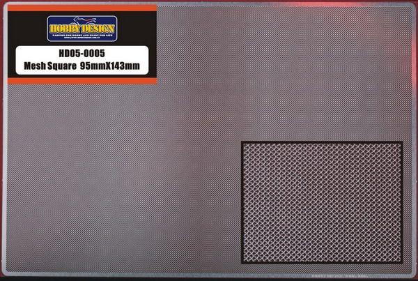 Hobby Design HD05-0005 Mesh Square 95mm X 143mm