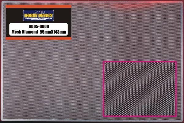 Hobby Design HD05-0006 Mesh Diamond 95mm X 143mm